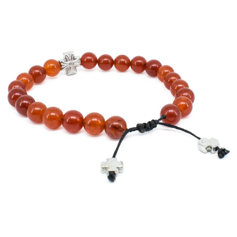Red Carnelian Stone Prayer Bracelet