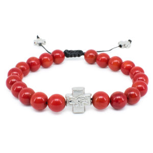 Red Coral Stone Orthodox Bracelet-0