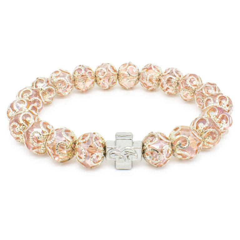 "Rose Glass Orthodox Bracelet ""Petra""-0"