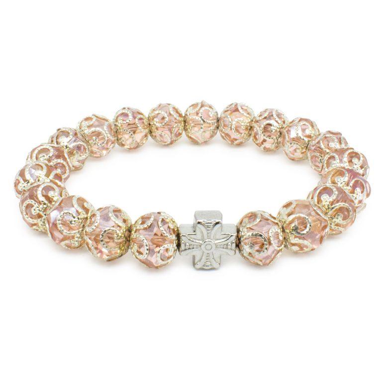 "Rose Glass Orthodox Bracelet ""Petra"""