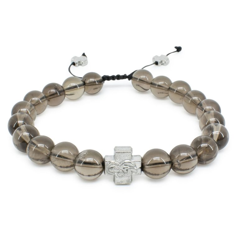 Smoky Quartz Stone Orthodox Bracelet-0