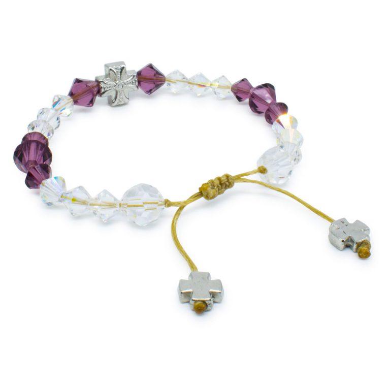 "Glorious Swarovski Crystal Prayer Bracelet ""Bella"""