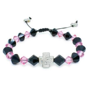 """Swarovski Crystal Orthodox Bracelet """"Black Velvet""""-0"""