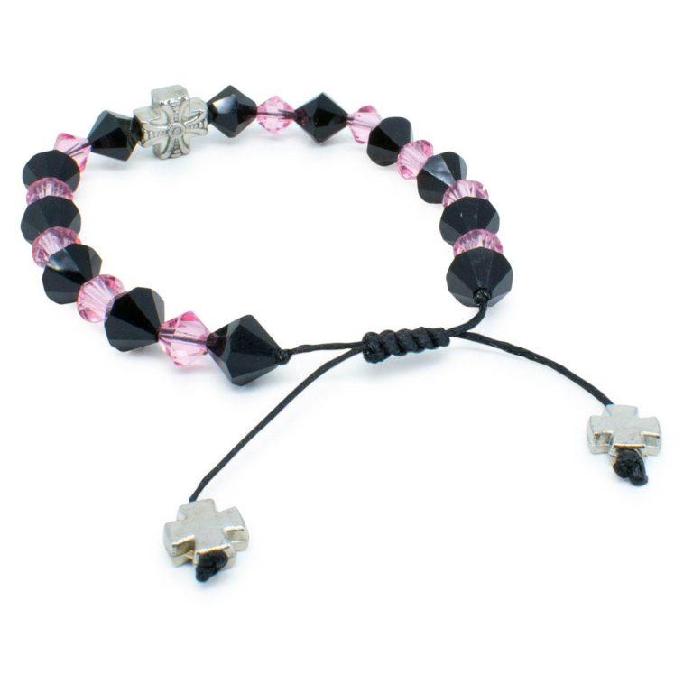 """Swarovski Crystal Orthodox Bracelet """"Black Velvet""""-445"""