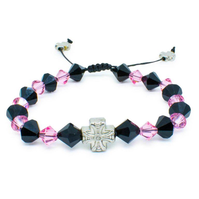 """Swarovski Crystal Orthodox Bracelet """"Black Velvet""""-446"""