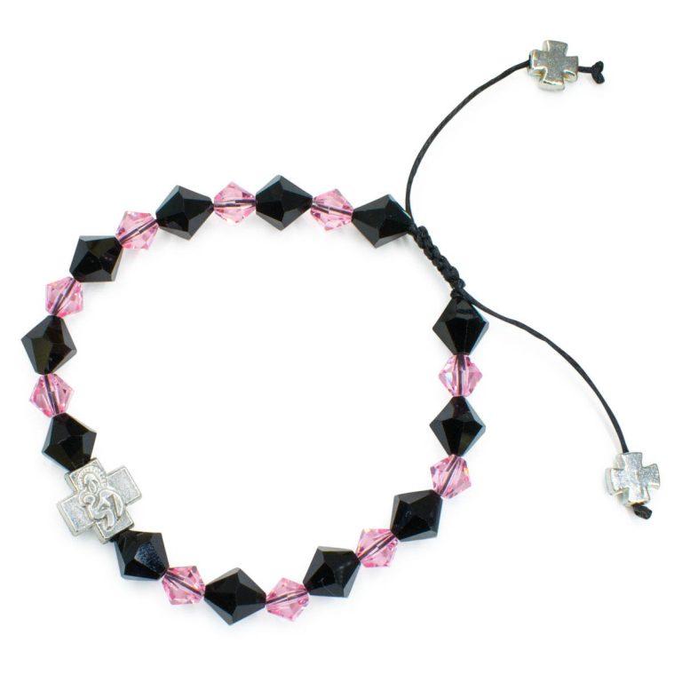 """Swarovski Crystal Orthodox Bracelet """"Black Velvet""""-448"""