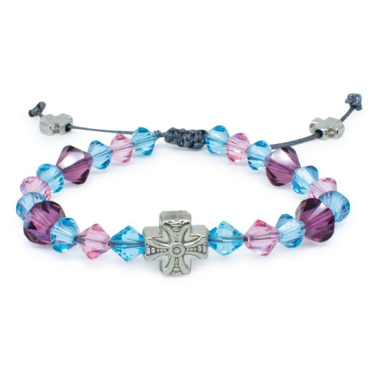 """Dazzling Swarovski Crystal Prayer Bracelet """"Emily"""""""