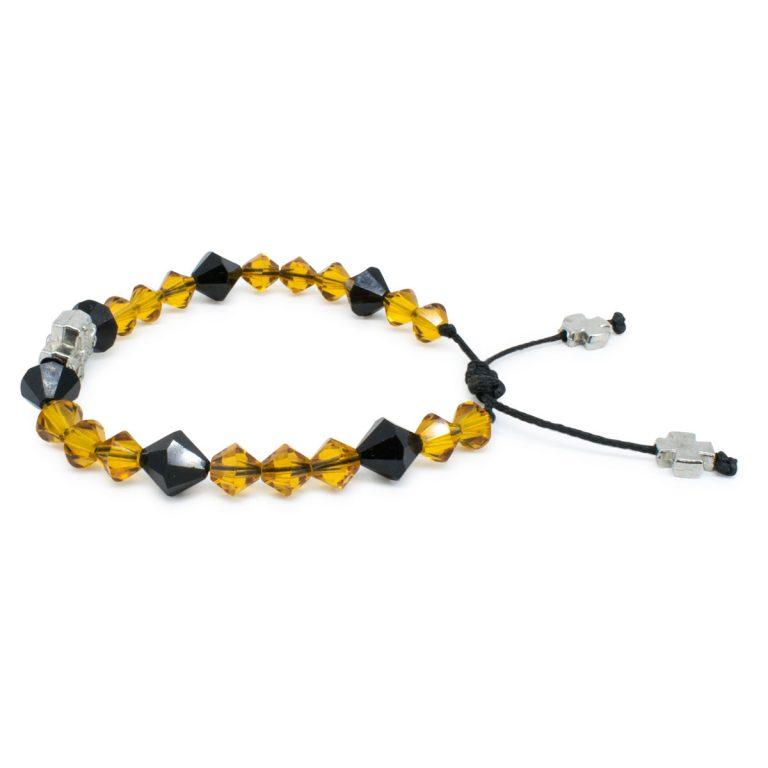 """Delightful Swarovski Crystal Prayer Bracelet """"Lora"""""""