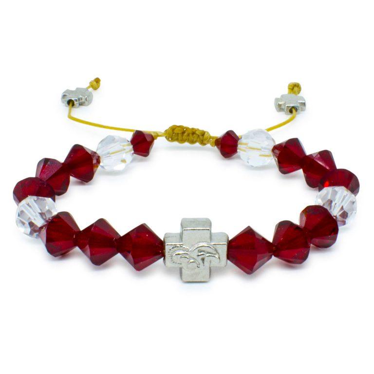 """Swarovski Crystal Orthodox Bracelet """"Ruby""""-0"""