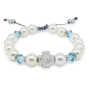 "Swarovski Pearl and Crystal Orthodox Bracelet ""Eve""-0"
