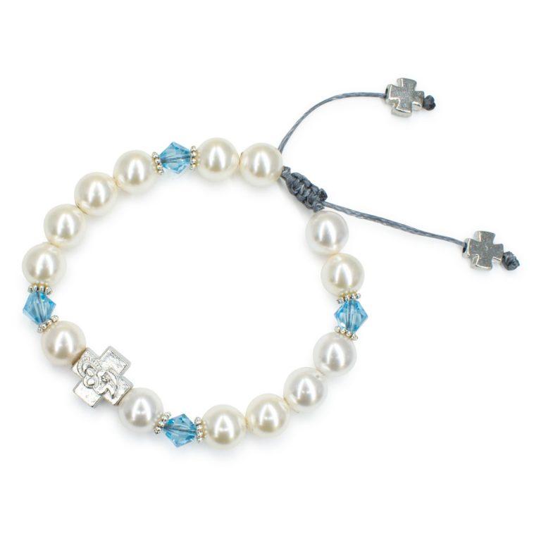 "Amazing Swarovski Pearl and Crystal Prayer Bracelet ""Eve"""
