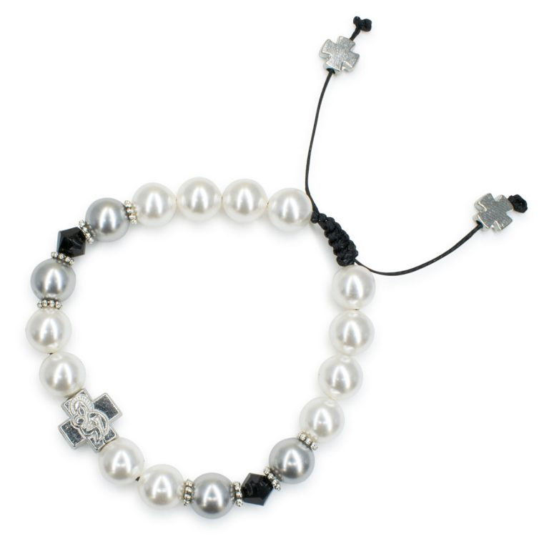 "Chic Swarovski Pearl and Crystal Prayer Bracelet ""Magdalena"""