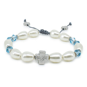 "Swarovski Pearl and Crystal Orthodox Bracelet ""Sophie""-0"