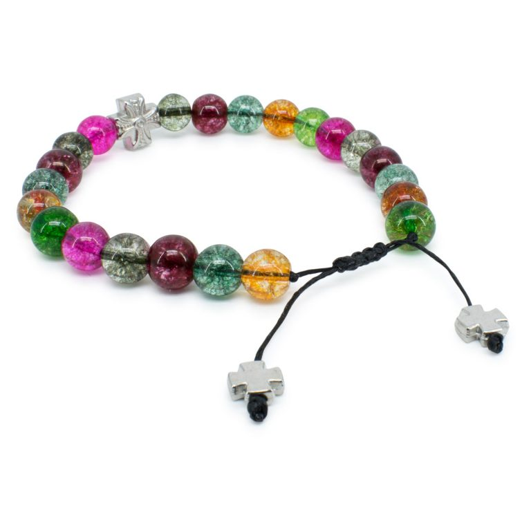 Phenomenal Tourmaline Quartz Stone Prayer Bracelet
