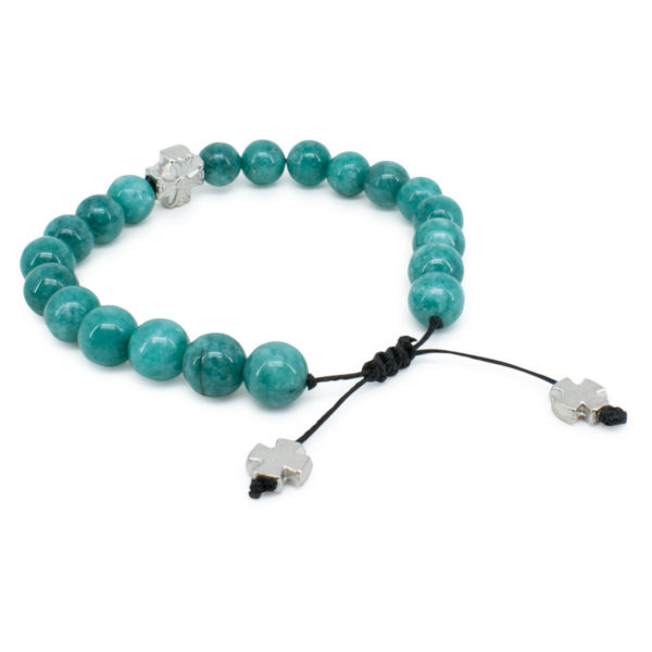 Lavish Turquoise Candy Jade Stone Prayer Bracelet