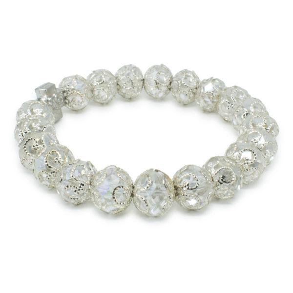 "White Glass Orthodox Bracelet ""Delila"""
